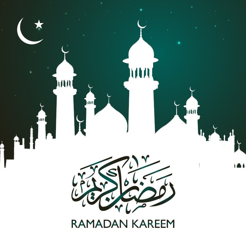 Ramadan Kareem Banner with Calligraphy Design Free Vector