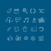 Top 20 Hand Drawn Icons Free PSD Design