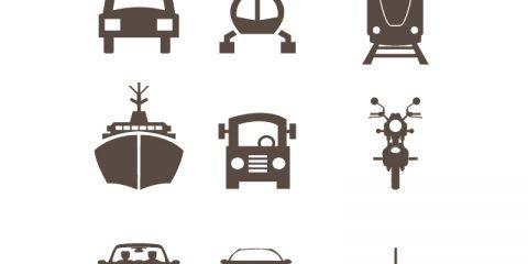 Transport Icons Set Design Free Vector Download
