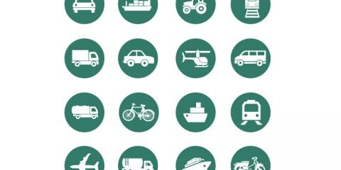 Transportation Icons Collection Design Free Vector