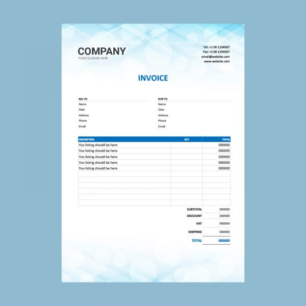 Editable Invoice Template Word from www.graphicmore.com