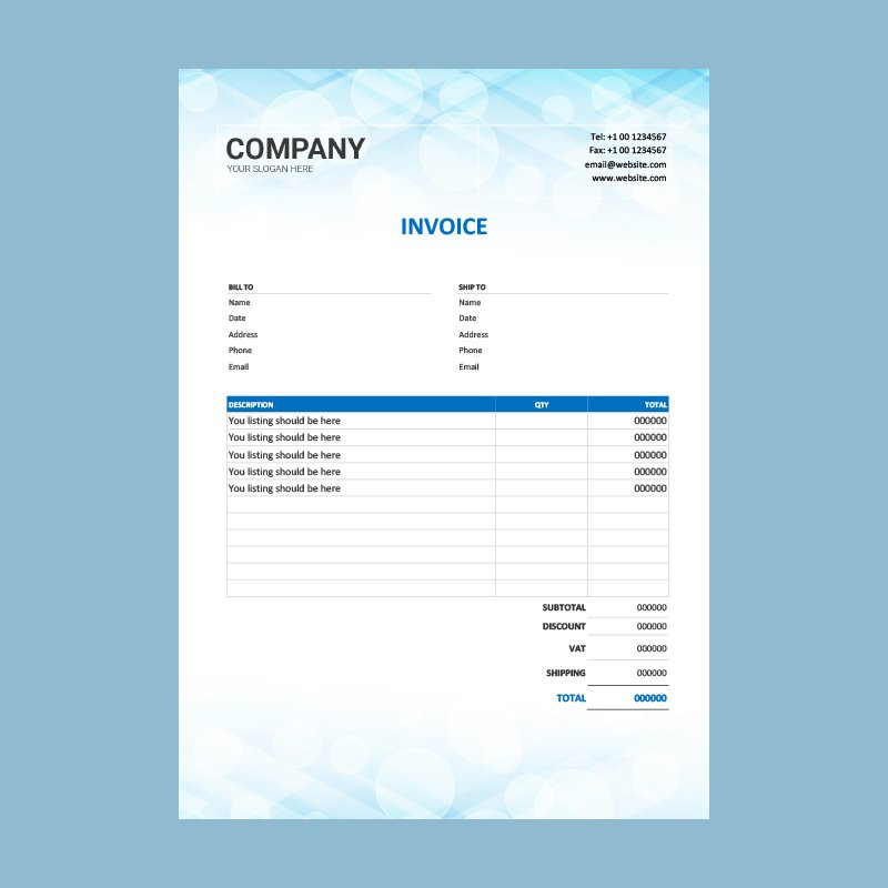 Real Estate Invoice Template Design Word Download