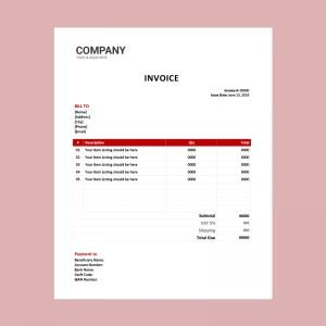 Personal Invoice Template Word Archives Download Free Vectors Free Psd Graphics Icons And Word Templates