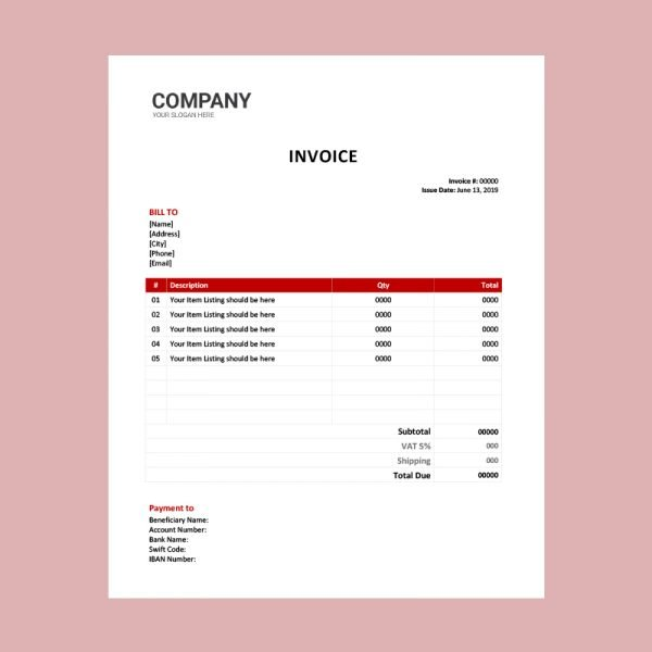 Personal Invoice Template Word Archives Download Free Psd And