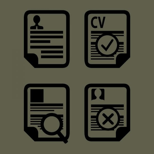 Curriculum Vitae Icons Vector Design Free Download