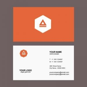 Agency Business Card Design in Orange Color Free PSD Download