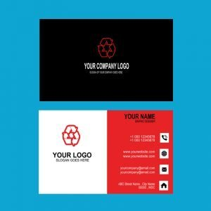 Audit Company Red & Black Business Card Template Design Free PSD Download