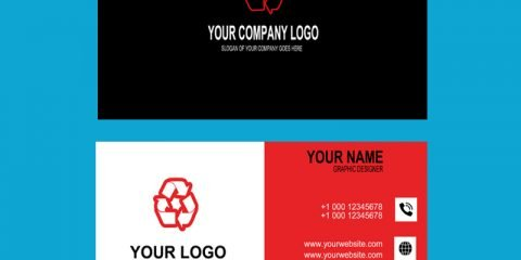 Audit Company Red & Black Business Card Template Design Free PSD