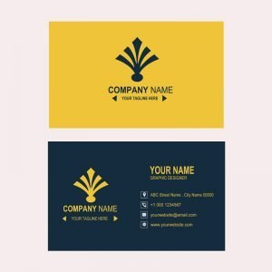 Bank or Financial Company Business Card Template Design Free PSD