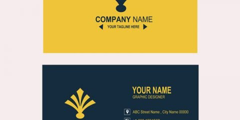 Bank or Financial Company Business Card Template Design Free PSD Download