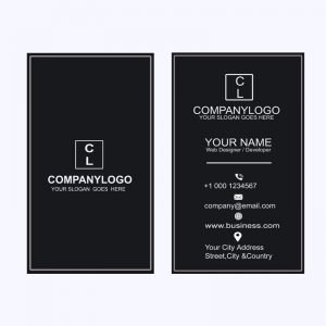 Black Vertical Business Card Mockup Design Template Free PSD Download