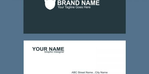 Brand Company Business Card Template Design Free PSD Download