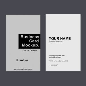 Clean & Creative Vertical Business Card Mockup Template Design Free PSD Download