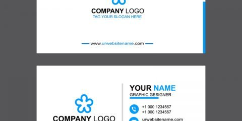 Clean & Professional Business Card Template Design Free PSD Download