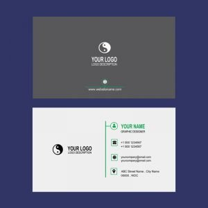 Company Clean Business Card Mockup Template Design Free PSD