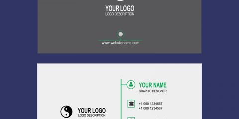 Company Clean Business Card Mockup Template Design Free PSD Download