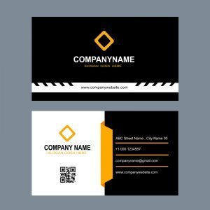 Construction Company Business Card Template Design Free PSD