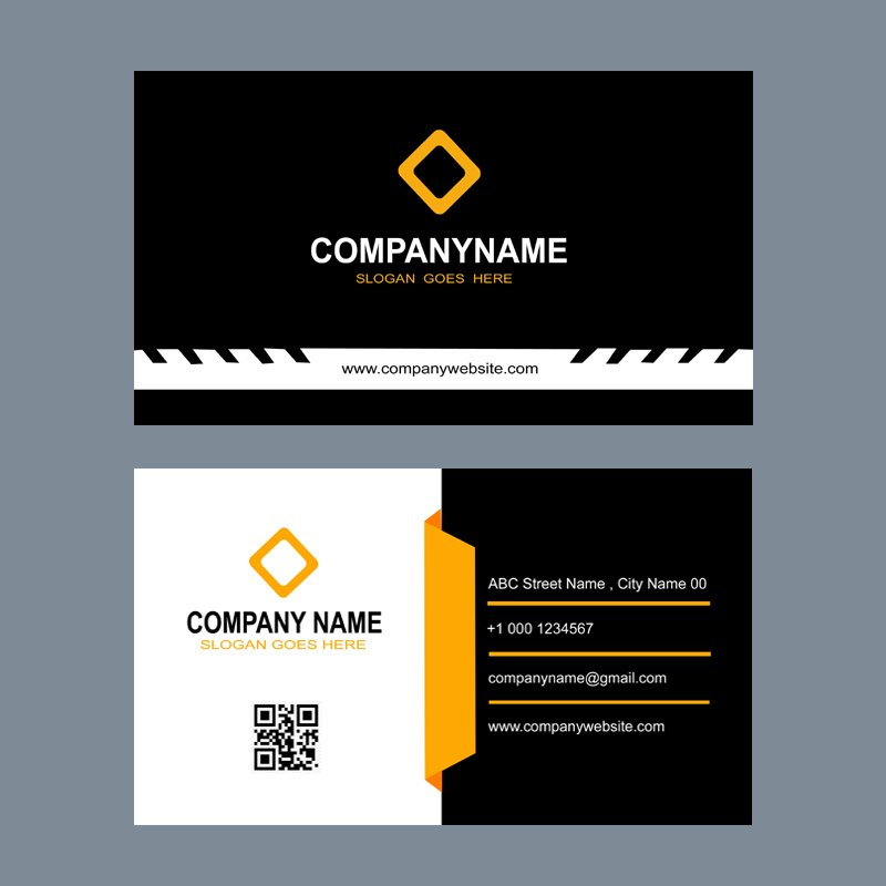 Construction Company Business Card Template Design Free PSD Download