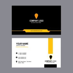 Construction Or Real Estate Professional Business Card Design Free PSD