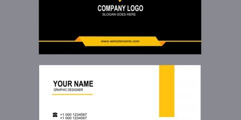 Construction Or Real Estate Professional Business Card Mockup Design Free PSD Download