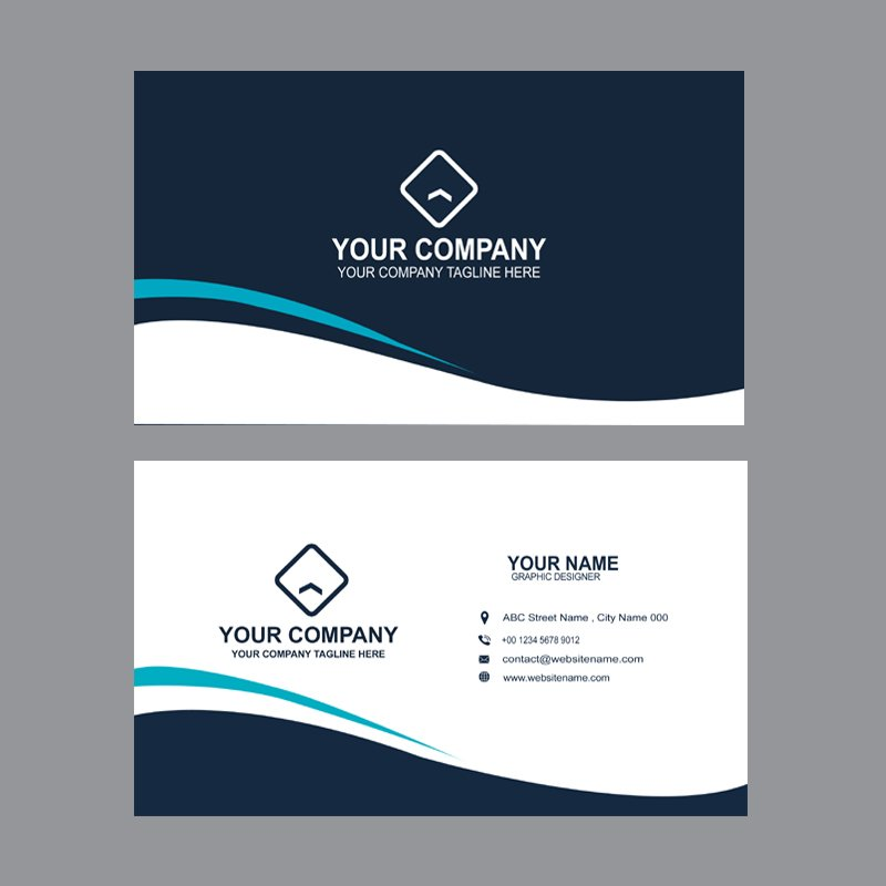 Creative Agency Business Card Template Design Free PSD Download