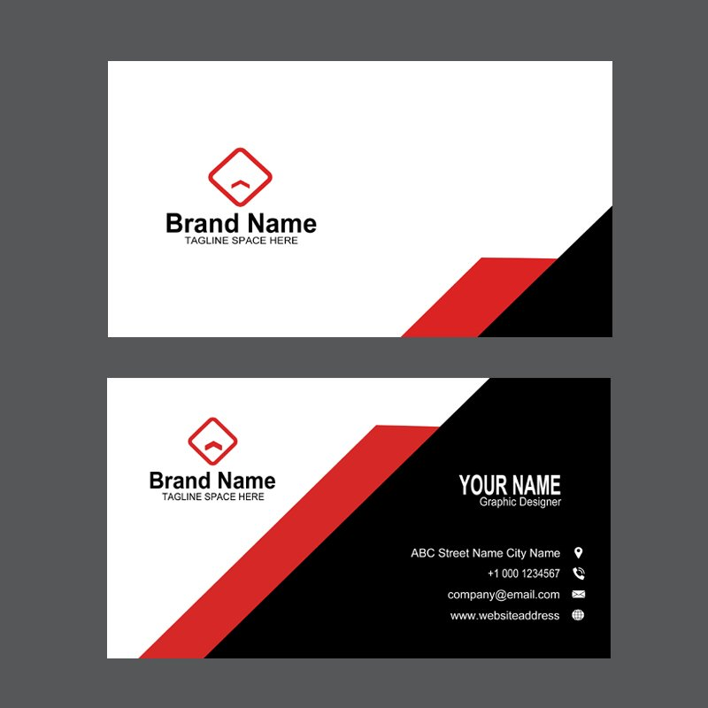 Creative Design Agency Business Card Template Design Free PSD Download