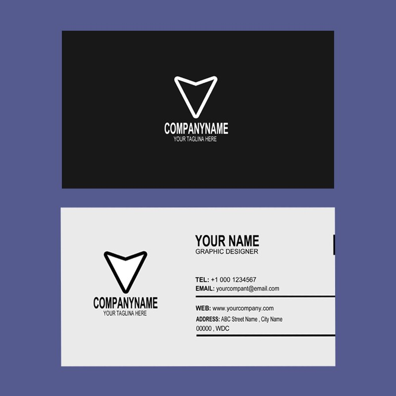 Design Company Dark Business Card