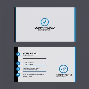 Design Company Professional Business Card Template Design Free PSD