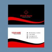 Digital Agency Red & Black Business Card Template Design