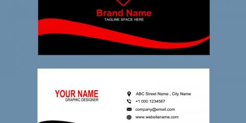 Digital Agency Red & Black Business Card Template Design Free PSD Download