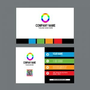 Digital Creative Design Company Colorful Business Card Template Design Free PSD Download