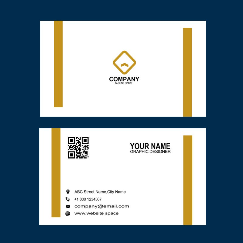 Digital Design Agency Business Card in Gold Color Template Design Free PSD Download
