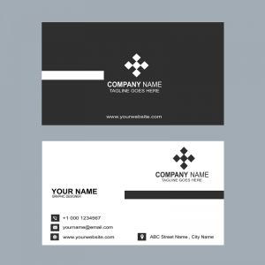 Elegant Dark Business Card Template Design Free PSD Download