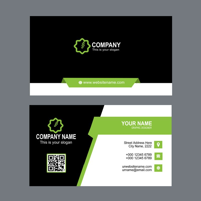 Energy Company Business Card Template Design Free PSD Download