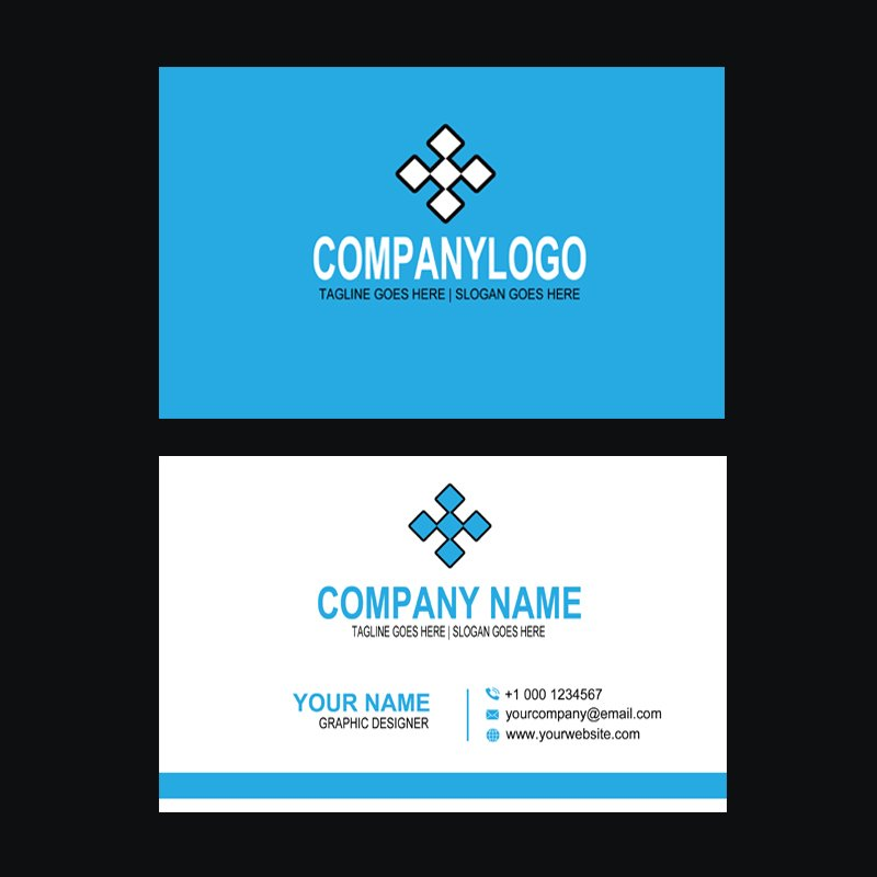 Events & Promotions Company Business Card Template Design Free PSD Download