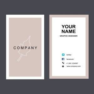 Fashion Company Vertical Business Card Mockup Design PSD