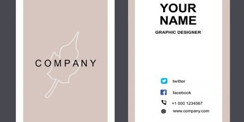 Fashion Company Vertical Business Card Mockup Design Free PSD Download