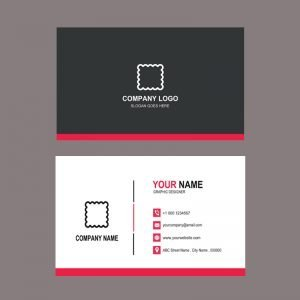 Fashion Design Company Business Card Template Design PSD