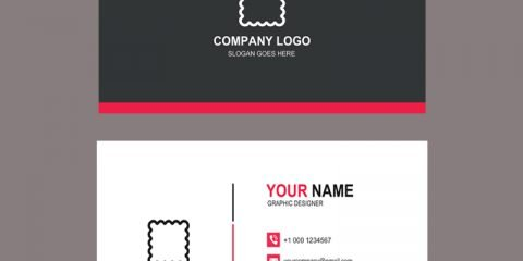 Fashion Design Company Business Card Template Design Free PSD Download