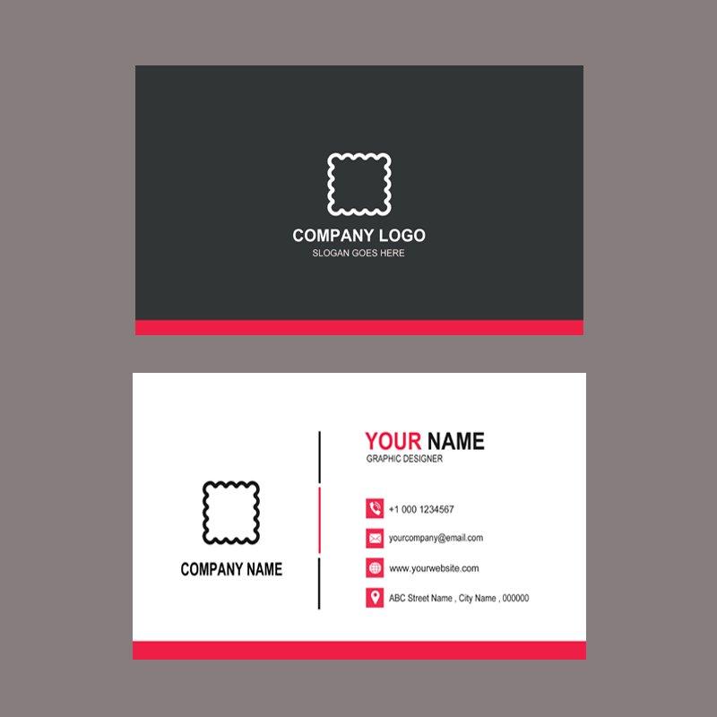 Fashion Design Company Business Card Template Design Free PSD Download