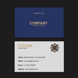 Flowers Company Business Card Template Design Free PSD