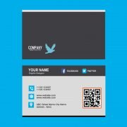 Freelancer Business Card with Barcode Template Design