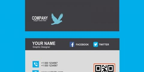 Freelancer Business Card with Barcode Template Design Free PSD Download