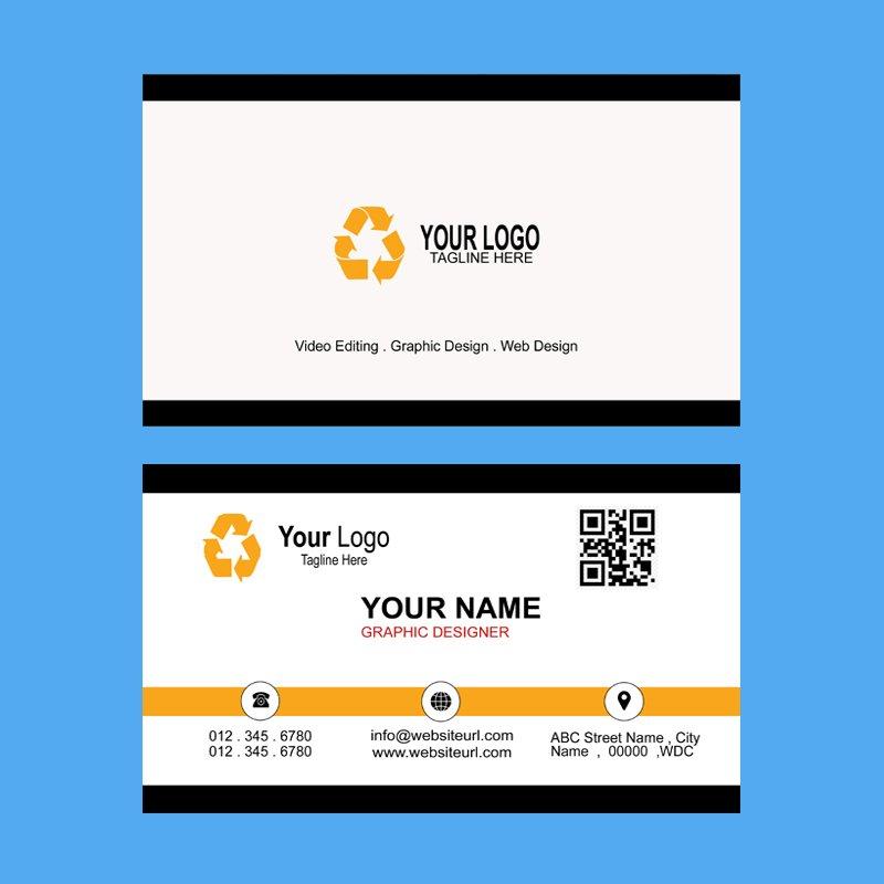 Gold & Black Business Card Template Free Design PSD