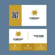 Gold & Black Color Business Card Template Design Free PSD Download
