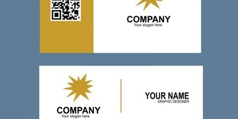 Gold & Black Color Business Card Template Design Free PSD