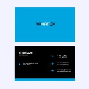 Graphic Design Company Business Card Template Design Free PSD Download