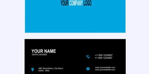 Graphic Design Company Business Card Template Design PSD