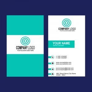 Graphic Design Company Vertical Business Card Mockup Design Template Free PSD Download