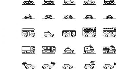 30 Traffic & Transportation Icons Collection Free
